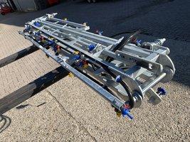 10 meter spuitboom compleet, 10m met 20 3-voudige revolverdoppen