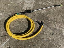telescopisch lans- handspuitpistool met 4m slang en 2x koppeling